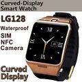 Lg128 smart watch portátil con nfc, soporte gps tarjeta sim 1.3mp cámara captura remota monitor de sueño a prueba de agua reloj de pulsera