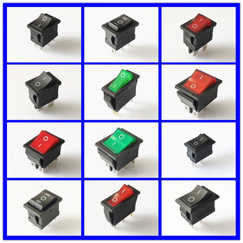 SPST KCD 3PIN 6PIN On/Off Square Boat Rocker Switch DC AC 16A/250V Car Dash Dashboard Plastic Switch Dropshipping Free Shipping цена 2017