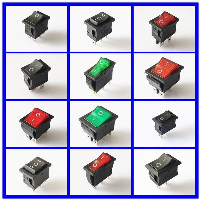 SPST KCD 3PIN 6PIN On/Off Square Rocker Switch DC AC 16A/250V Car Dash Dashboard Plastic Switch Dropshipping Free Shipping(China)