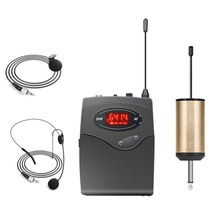 Wireless Microphone System,Wireless Set With Headset & Lavalier Lapel Mics Beltpack Transmitter Receiver