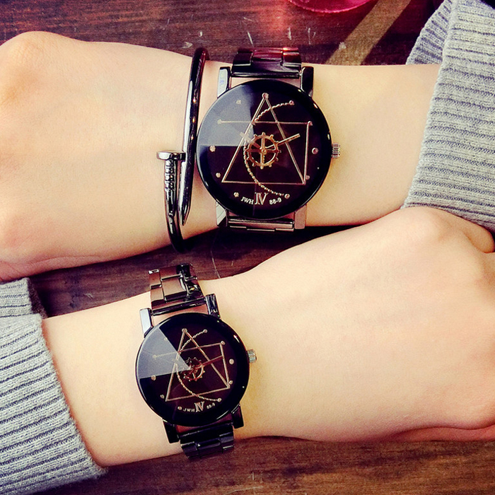 Lover Watch Simple Line Dial Gear Pointer Watch Creative Personality Minimalist Leather Watches Analog Casual Wristwatch LL