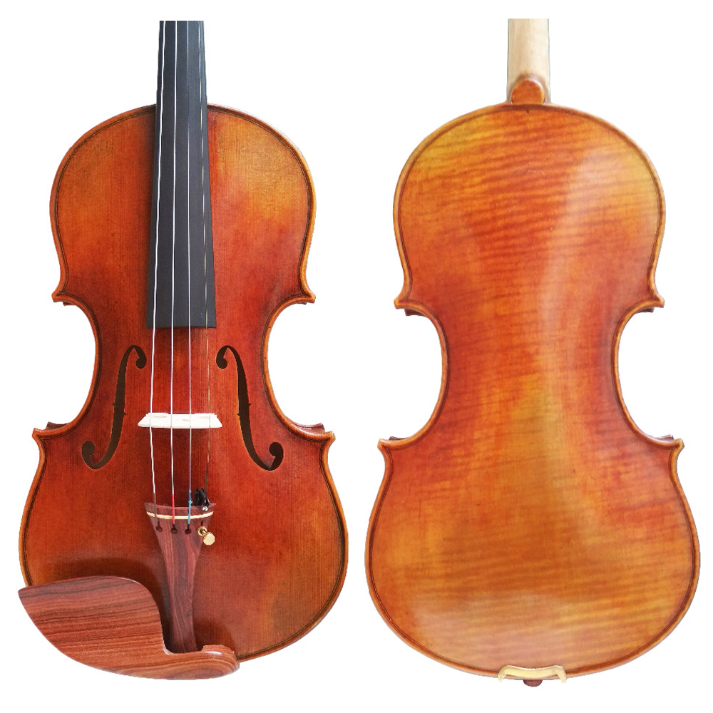 Free Shipping 100% Handmade FPVN04 Oil Varnish Violin with Foam Case and Carbon Fiber Bow Master level ...