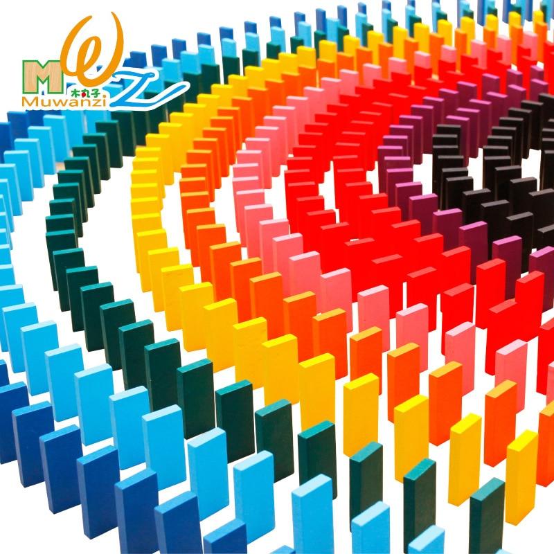 MWZ 1000 pièces/ensemble Coloré Orgue En Bois jeu de domino blocs de construction avec aide bébé jouets en bois Montessori jouet éducatif