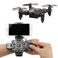 DH800 RC Drone Mini Foldable Mode Quadcopter 4 Channel Gyro Aircraft with Watch Type Remote Controller