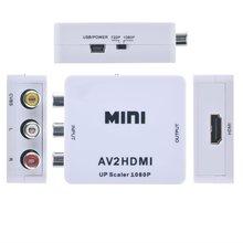1080 P AV 3RCA Composite CVBS para HDMI Conversor Adaptador de Vídeo para PS2 PS3 SKY DVD
