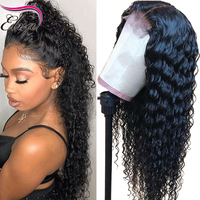 Lace Front Human Hair Wigs Pre Plucked With Baby Hair Full Glueless Curly Human Hair Lace Wigs For Black Women Elva Remy Hair