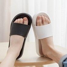 Women Summer Couples Slippers Beach Peep Toe Flat Slides Flip Flops Sho