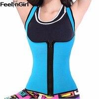 Neoprene Body Shaper Hot Shapewear Womens Weight Loss Tank Top Neoprene Sauna Waist Cincher Vest Workout