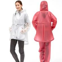 Women Cycling Rain Suit PVC Motorbike Transparent Bicycle Coat Waterproof Jacket Men Hiking Gear Reizen 50yc147