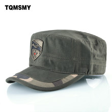 1b0679184b2b4 TQMSMY Embroidery Bone Military Hats For Men Flat cap women s Camouflage  caps Cotton breathable Tactical Hat Casual Lady Berets