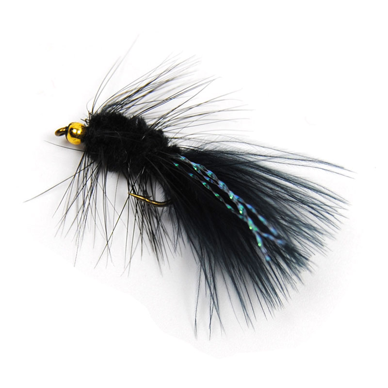 10PCS Woolly Bugger Streamer Flies Flashabou Crystal Tail Trout Salmon Fly Fishing Lures #8