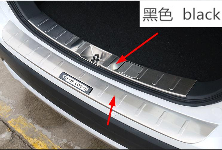2 pcs Stainless Steel Rear Inner + outside Bumper Protector Guard Plate Trunk Gate For Mitsubishi Outlander 2013 2014 2014 2016