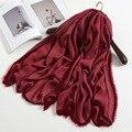 2016 Otoño Invierno de Algodón Étnico Bufanda Femenina Del Remiendo Del Color Sólido Bufandas Cuello Caliente Bufandas Caliente