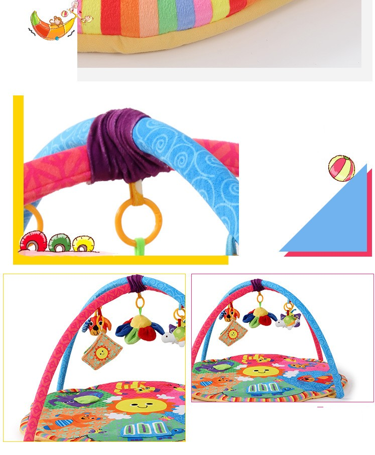 New Design Colorful Fun Animals Baby Play Mats 0-1 Year Baby Educational Toy Sports Crawling Pads Play Activity Gym Blanket 7