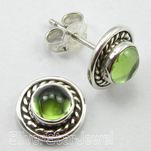 wanelo shop stone products silver earrings stones sterling natural best on raw peridot stud gemstone posts