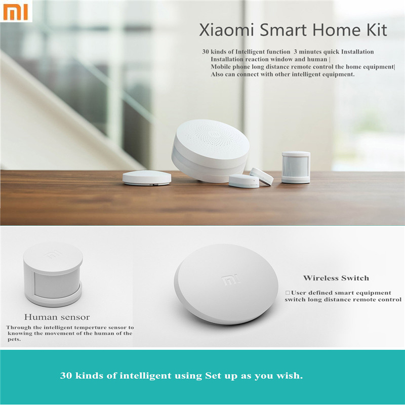 100 Original Xiaomi font b Smart b font Home Kit Gate way Intelligent Multifunction Wireless Switch