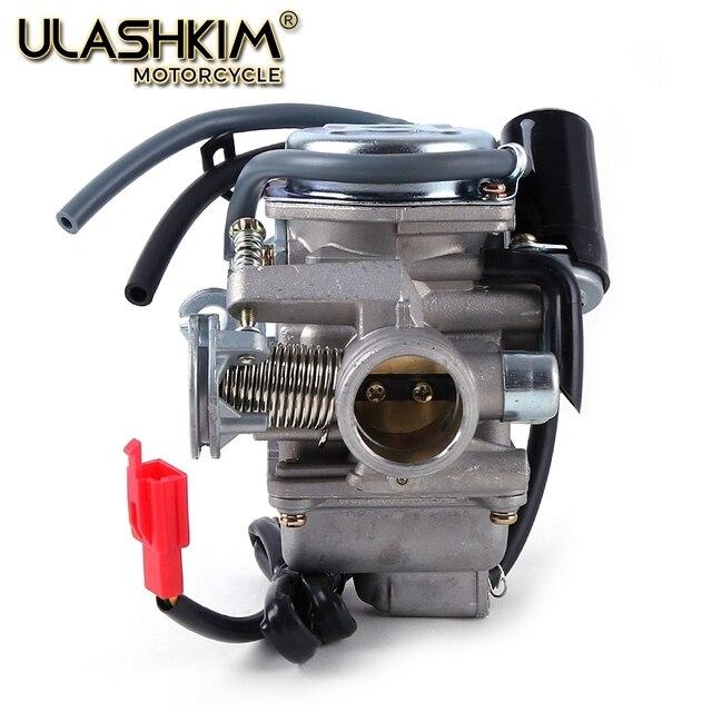 אופנוע קרבורטור פחמימות CVK עם מצערות חשמליות קטנוע טוסטוס טרקטורונים GY6 125 GY6 150 152QMI 1P52QMI 157QMJ 1P57QMJ 24 28 30mm ש