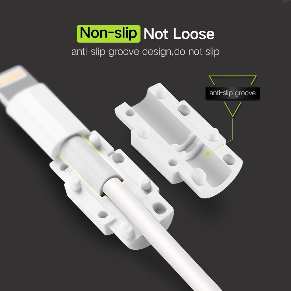Image 2 - 10 pcs 미니 귀여운 실리콘 usb 케이블 수호자 데이터 라인 코드 보호 케이스 케이블 와인 더 커버 아이폰 5 6 6 s 7 플러스 8 케이블cable windercable protectorcable cord protector -