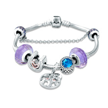 SG 100% 925 Sterling Silver tree of Life and Heart fashion charm Bracelets & Bangles for Women Jewelry