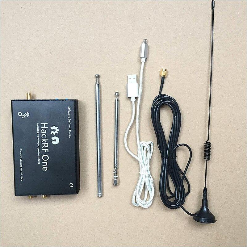Nouveau HackRF Un 1 mhz-6 ghz Plate-Forme SDR Software Defined Radio Conseil de Développement + alliage D'aluminium shell + TCXO + Antenne