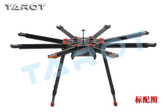 Tarot X8 quadcopter TL8X000 w/Eletric Retractable Landing Gear FPV Multicopter Track Shipping tarot x8 1050mm 8 axis pcb center board plate umbrella folding fpv octocopter frame tl8x000 with retractable landing gear