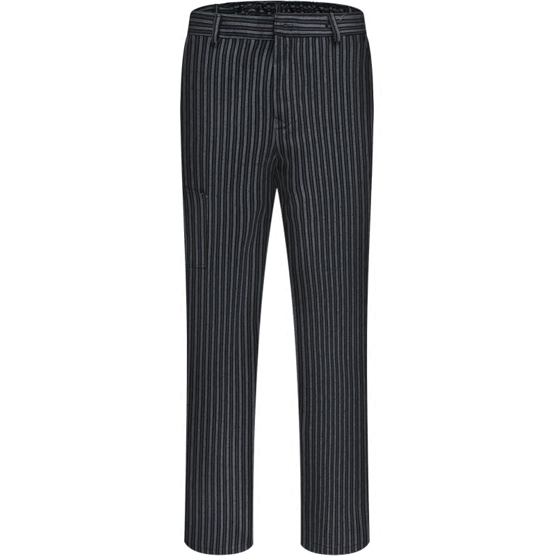 Chef work trousers 2018 new style male spring and autumn loose striped elastic waist pants restaurant hotel chef pants