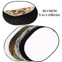 5 in 1 Tragbare 24 Inch x 36 Inch/60cm x 90cm Oval Faltbare Multi Disc Fotografie studio Foto Kamera Beleuchtung Reflektor