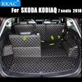 RKAC автомобильные коврики для багажника SKODA KODIAQ 7 мест 2018 водонепроницаемые ковры грузовой лайнер аксессуары для интерьера автомобильный Ст...