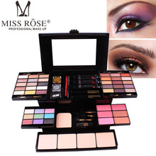 MISS ROSE 39 color eyeshadow 6 blush 4 powder eye shadow box makeup cosmetic case