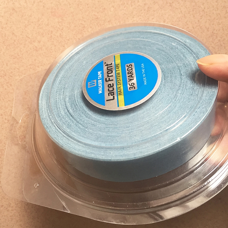 1.9cm 2.54cm 36Yards  Double Sided Adhesive Hair Tape Strong Blue Lace Front Support Tape For Tape Extension/Toupee/Lace Wigs1.9cm 2.54cm 36Yards  Double Sided Adhesive Hair Tape Strong Blue Lace Front Support Tape For Tape Extension/Toupee/Lace Wigs