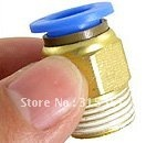 Free Shipping 50PCS A Lot 1/4'' Air Pneumatic Connection 12mm Push in Quick Fitting PC12-02