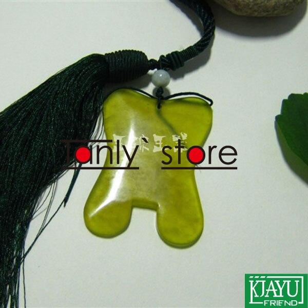 Haute qualité! épaissir! en gros et au détail corps massage guasha kit beauté du visage plaque carré mince taille 100% jade