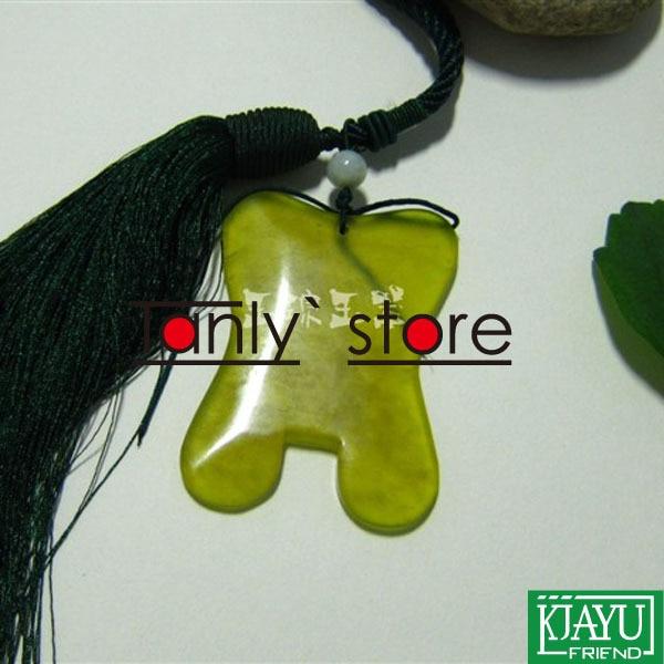 High quality! Thicken! wholesale & retail body massage guasha kit facial beauty plate square thin waist 100% jade