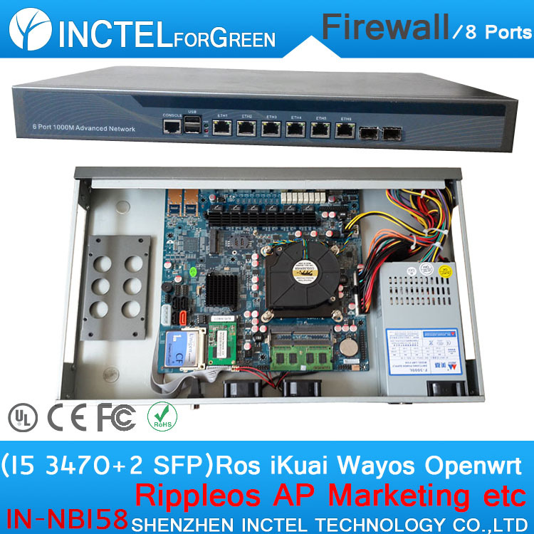 Intel PCI E 1000M 6 82583v 2 Intel I350 SFP Gigabit VPN Firewall pfsense with I5