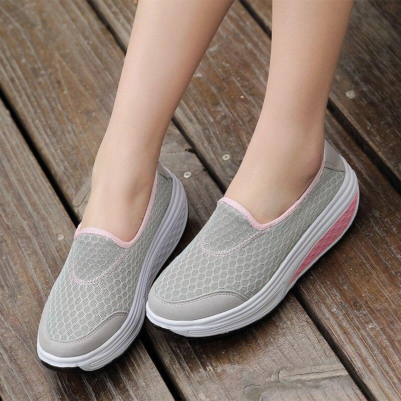 El envío libre 2017 deportes de Verano zapatos de plataforma de Las Mujeres Zapa
