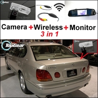 3in1 Special Rear View Camera Wireless Receiver Mirror Monitor DIY Back Up Parking System For Lexus