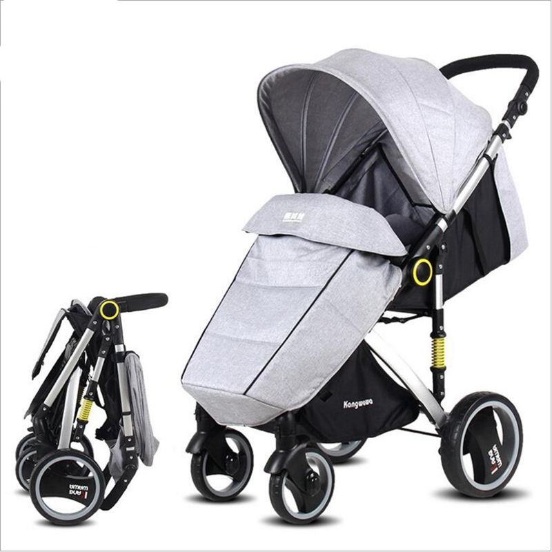 Folding lightweight stroller 2 in 1 can sit can sleep baby car newborn hot mom bb stroller free shipping multiple countries все цены