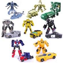 Трансформация, мини-машинки, Детские Классические игрушки-роботы, игрушки, фигурки, пластиковые деформации, подарки для мальчиков, для детей, I0033