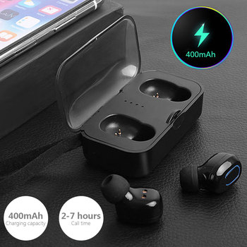 Handsfree Bluetooth 5.0 Headset Bluetooth5.0 Earbuds Noise Reduction Siri Bluetooth 5.0 Earphone Fashion Portable bison rolling grill