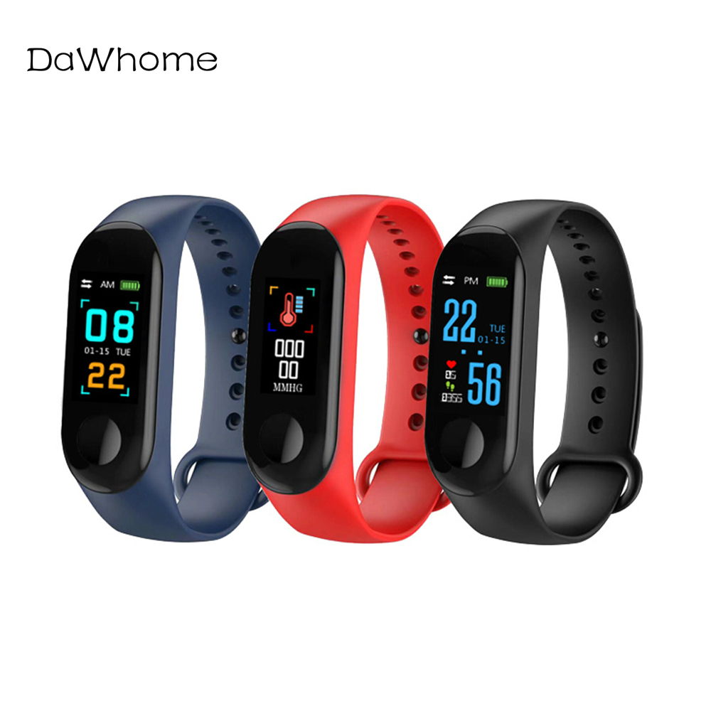 M3 Smart Watch Heart Rate Blood Pressure Color Screen Sports Step Bluetooth Bracelet IP65 Waterproof Watch Connect Android IOS