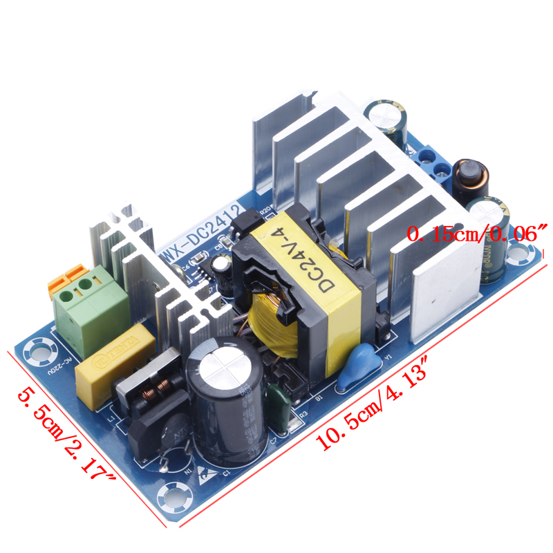 Power Supply Module AC 110v 220v to DC 24V 6A AC-DC Switching Power Supply Board maitech 24v 200ma ultra small switching power supply module ac 220v turn to dc 24v green