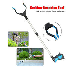 32in Pick Up Grabber Garbage Clip Pickup Device Sanitation Tools Rubbish Pickup Foldable Clamp Suction Cup Claw Hand Plier(China)