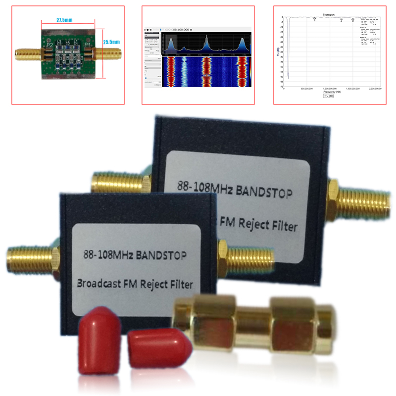 Broadcast FM Band Stop Filter SMA Male to SMA Male Adapter (88-108 MHz FM Trap) by RTL-SDR Blog Shortwave мини печи брекфастницы в украине