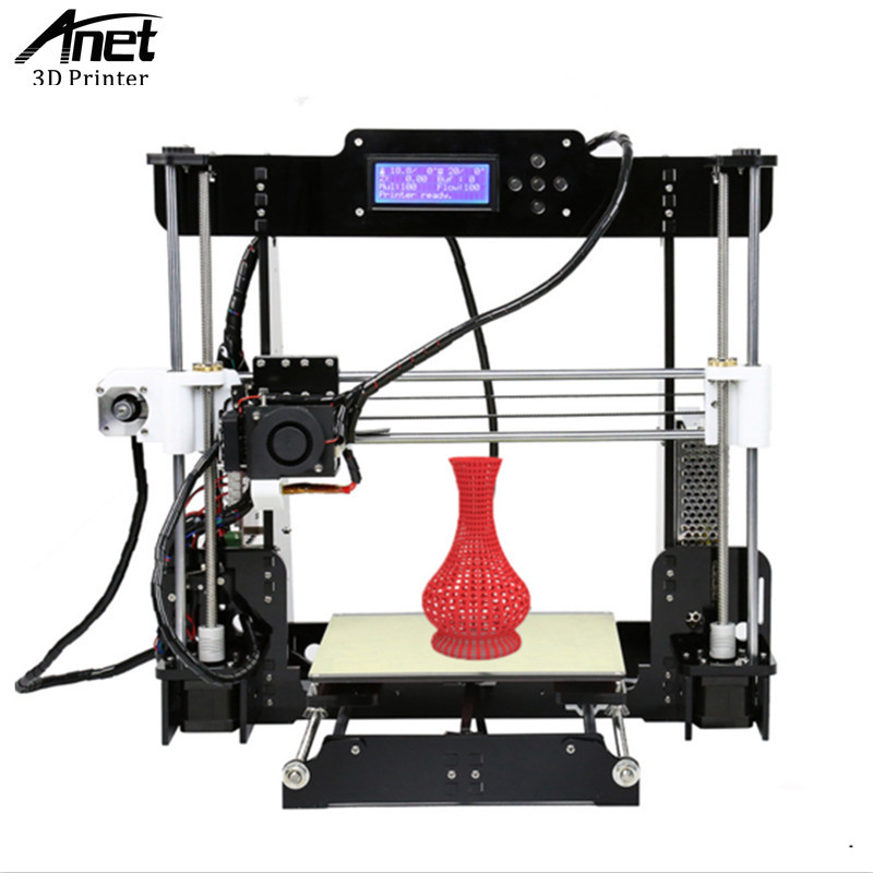 ANET A8 3D Printer Prusa i3 3D printer High Precision Easy Assembly Filament Kit 8GB SD