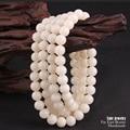 Wholesale Ivory White Bodhi Seed Tibetan Buddhism Prayer 108mala Beads Yoga Meditation Healing Wood Round Beads For DIY Jewelry