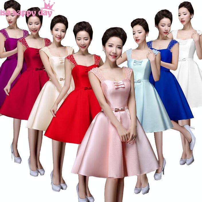 separation shoes 7c007 70273 US $40.56 5% di SCONTO|Bella breve vino rosso blu royal viola damigelle  raso formale abiti da damigella d'onore vestito rosa per il vestito ragazzi  ...