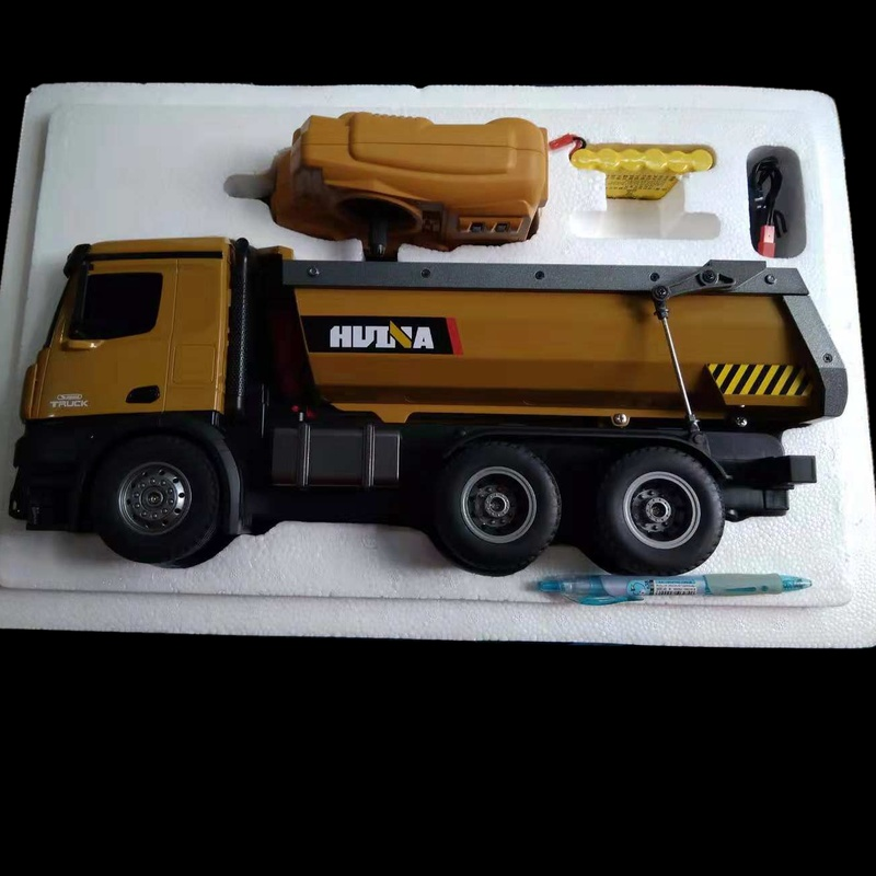 Dump Truck Huina 573 10 channel Remote Control RC Truck Dump self-discharging Max load  RTR 2.4GHz 1:14 LED Light