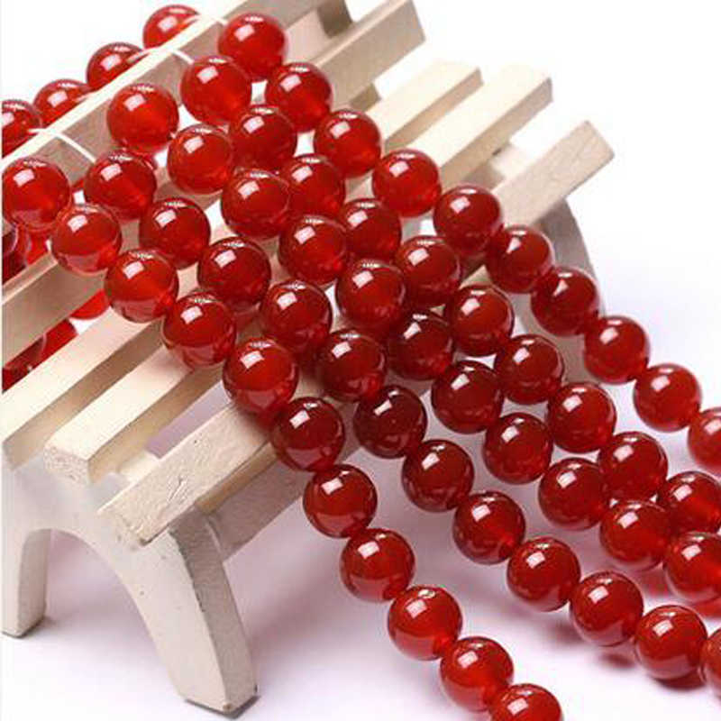 Fashion New 10MM Red Agates Beads 15inches Natural Brazilian Faceted Round Loose Beads Jewelry Natural Stone Wholesale Price