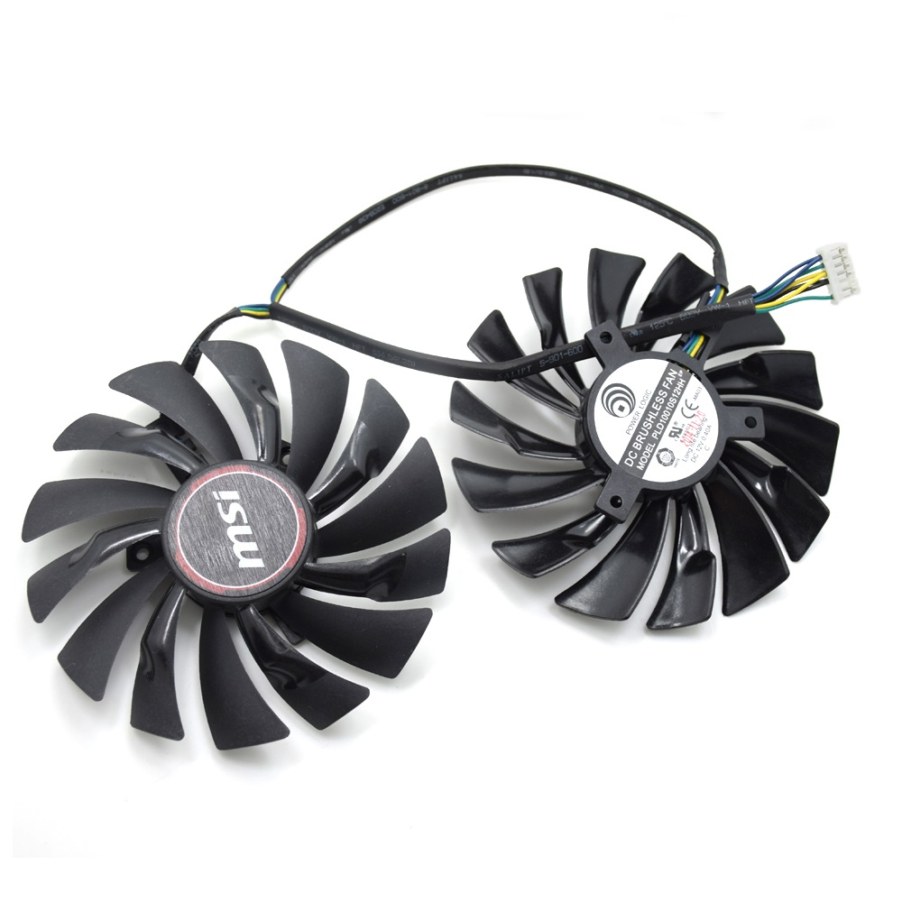 New Original 95MM PLD10010S12HH 6Pin Graphics Video Card Cooler Fan For MSI GTX 980 970 960 GAMING Dual Fans Twin Cooling Fan 2pcs lot computer radiator cooler fans rx470 video card cooling fan for msi rx570 rx 470 gaming 8g gpu graphics card cooling