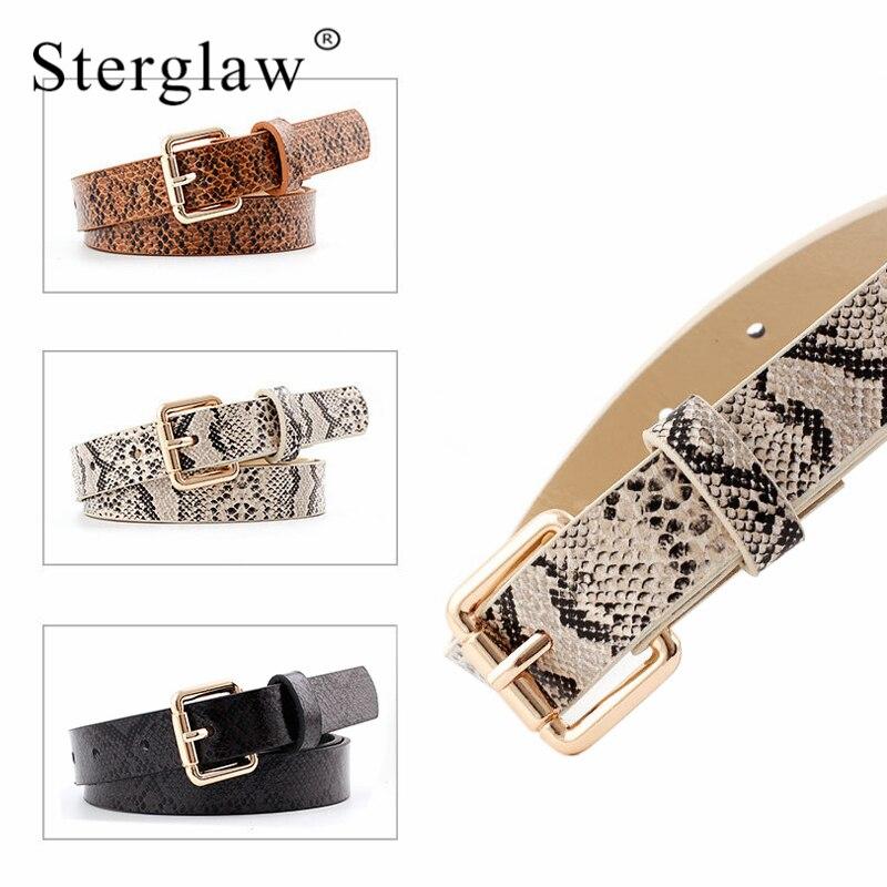 105x2.3cm High Quality Female Pu Leather Snake Waist Belt Women 2020 Hot Designer Belts For Women's Dress Cinto Feminino N261